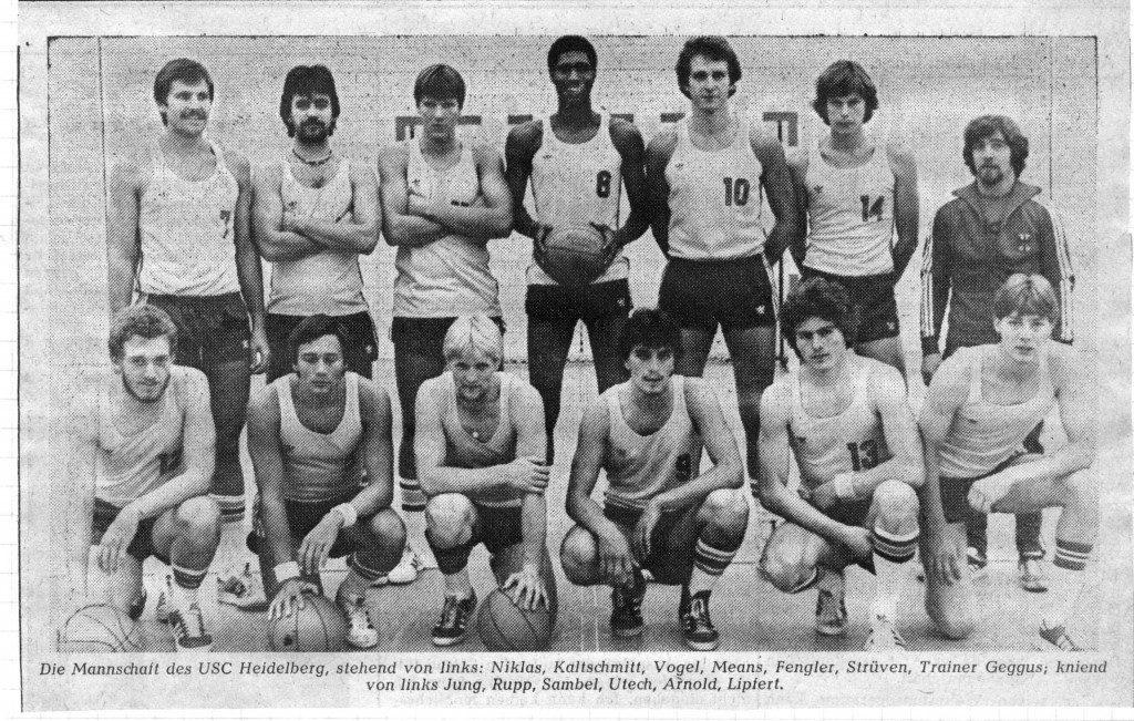 Das USC-Team der Saison 1978/1979