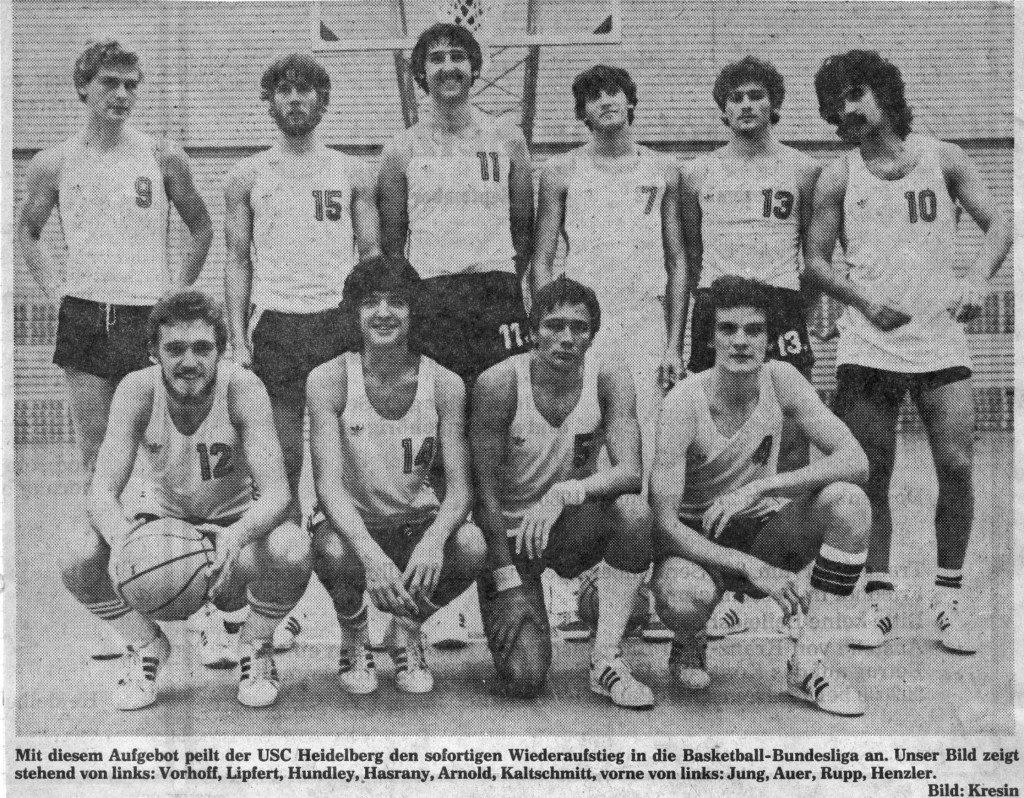 Mit dieser Mannschaft ging der USC in der Saison 1980/1981 den Wiederaufstieg in die 1. BL an.