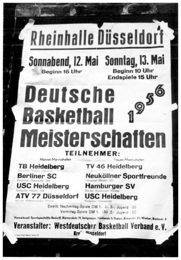Ouvertüre zur Serienmeisterschaft: Die Düsseldorfer Meisterschaften von 1956 (Slg. Wolfgang Luckenbach)