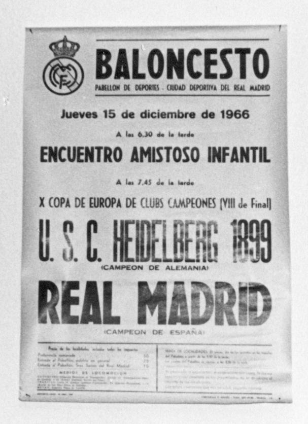 Am 15. Dezember 1966 trat der USC im Europapokal bei Real Madrid an (Slg. Hans Leciejewski).