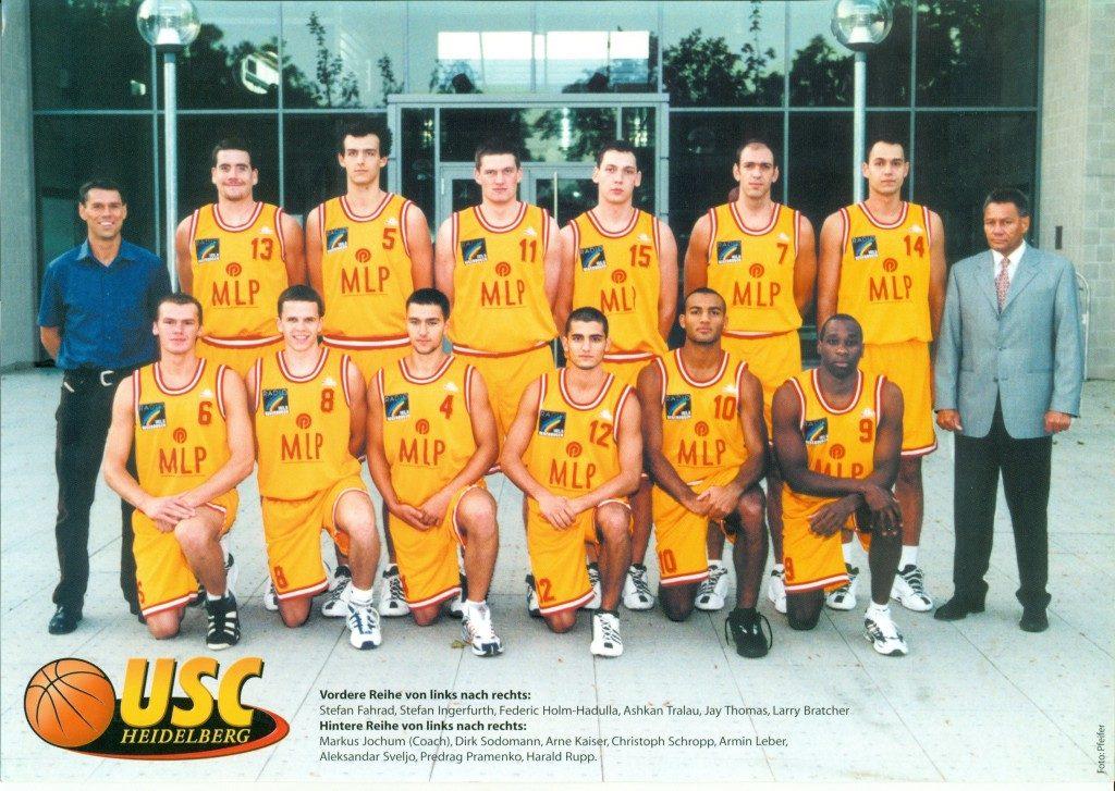 Kader des USC für die Spielzeit 2000/2001 in der 2. BL Süd